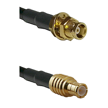MCX Female Bulkhead on RG58C/U to MCX Male Cable Assembly