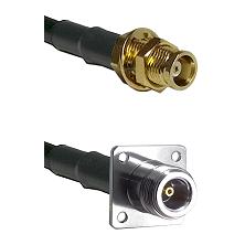 MCX Female Bulkhead on RG58C/U to N 4 Hole Female Cable Assembly