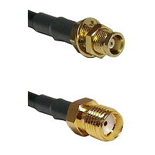 MCX Female Bulkhead on RG58C/U to SMA Female Cable Assembly