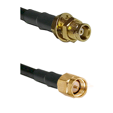 MCX Female Bulkhead on RG58C/U to SMA Male Cable Assembly