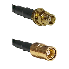 MCX Female Bulkhead on RG58C/U to SMB Female Cable Assembly