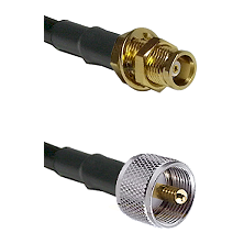 MCX Female Bulkhead on RG58C/U to UHF Male Cable Assembly