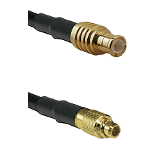 MCX Male To MMCX Male Connectors LMR100 Cable Assembly