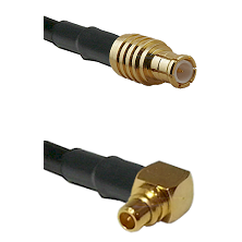 MCX Male To Right Angle MMCX Male Connectors LMR100 Cable Assembly