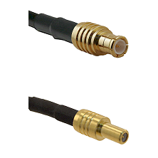 MCX Male on LMR-195-UF UltraFlex to SLB Male Cable Assembly