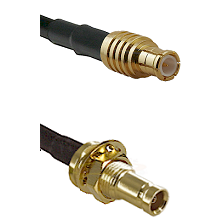MCX Male on LMR200 UltraFlex to 10/23 Female Bulkhead Cable Assembly