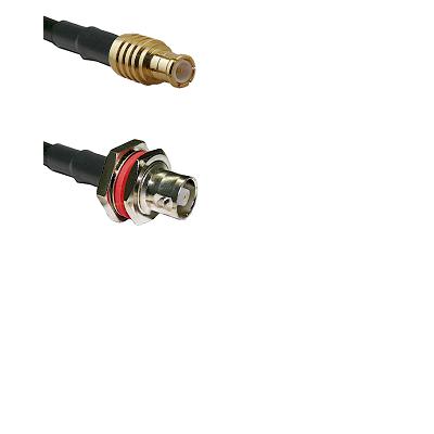 MCX Male on LMR200 UltraFlex to C Female Bulkhead Cable Assembly