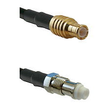 MCX Male on LMR200 UltraFlex to FME Female Cable Assembly