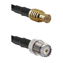 MCX Male on LMR200 UltraFlex to Mini-UHF Female Cable Assembly