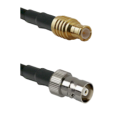 MCX Male on RG142 to C Female Cable Assembly