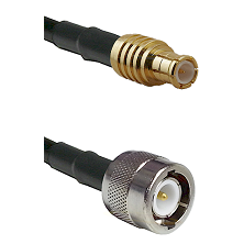 MCX Male on RG142 to C Male Cable Assembly