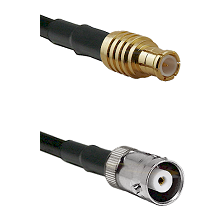 MCX Male on RG142 to MHV Female Cable Assembly