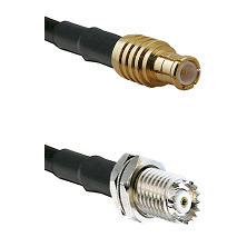 MCX Male on RG142 to Mini-UHF Female Cable Assembly