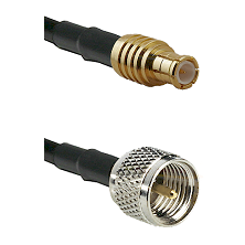 MCX Male on RG142 to Mini-UHF Male Cable Assembly