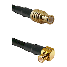 MCX Male To Right Angle MCX Male Connectors RG178 Cable Assembly