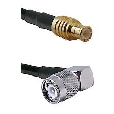 MCX Male To Right Angle TNC Male Connectors RG178 Cable Assembly