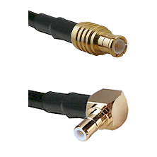 MCX Male To Right Angle SMB Male Connectors RG179 75 Ohm Cable Assembly