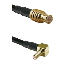 MCX Male on RG188 to SSLB Right Angle Male Cable Assembly