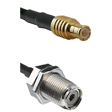 MCX Male To UHF Female Bulk Head Connectors RG188 Cable Assembly