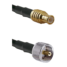 MCX Male on RG188 to UHF Male Cable Assembly