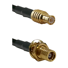 MCX Male On RG223 To SMB Female Bulk Head Connectors Coaxial Cable