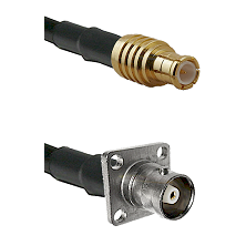 MCX Male on RG400 to C 4 Hole Female Cable Assembly