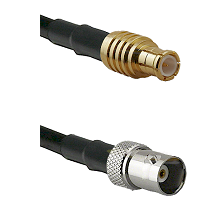 MCX Male on RG58C/U to BNC Female Cable Assembly