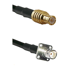 MCX Male on RG58C/U to BNC 4 Hole Female Cable Assembly
