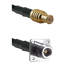 MCX Male on RG58C/U to N 4 Hole Female Cable Assembly