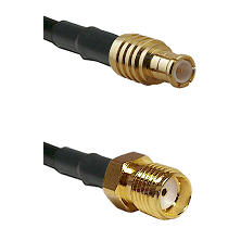 MCX Male on RG58C/U to SMA Female Cable Assembly