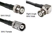 MHV RG-400 M17/128 Cable Assemblies