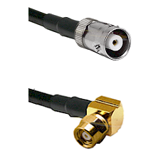MHV Female on LMR200 UltraFlex to SMC Right Angle Female Cable Assembly
