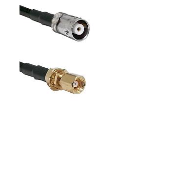MHV Female on LMR200 UltraFlex to SMC Female Bulkhead Cable Assembly