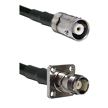 MHV Female on LMR200 UltraFlex to TNC 4 Hole Female Cable Assembly