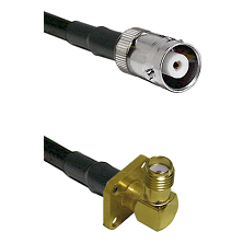 MHV Female Connector On LMR-240UF UltraFlex To SMA 4 Hole Right Angle Female Connector Coaxial Cable