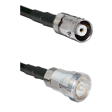 MHV Female on RG142 to 7/16 Din Female Cable Assembly