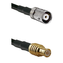 MHV Female on RG142 to MCX Male Cable Assembly