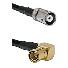 MHV Female on RG400 to SMB Right Angle Female Cable Assembly