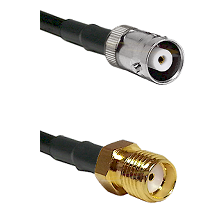 MHV Female on RG400 to SMA Reverse Thread Female Cable Assembly