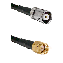 MHV Female on RG400 to SMA Reverse Thread Male Cable Assembly