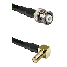 MHV Male on LMR-195-UF UltraFlex to SLB Right Angle Male Cable Assembly
