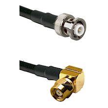MHV Male on LMR-195-UF UltraFlex to SMC Right Angle Female Cable Assembly