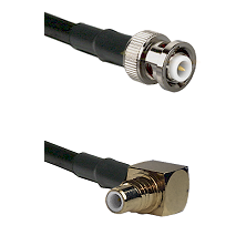 MHV Male on LMR-195-UF UltraFlex to SMC Right Angle Male Cable Assembly