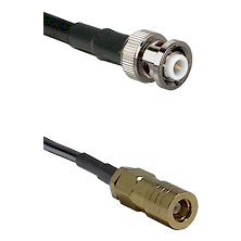 MHV Male on LMR-195-UF UltraFlex to SLB Female Cable Assembly