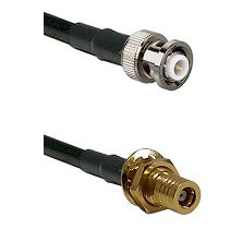 MHV Male on LMR-195-UF UltraFlex to SLB Female Bulkhead Cable Assembly