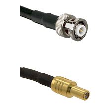 MHV Male on LMR-195-UF UltraFlex to SLB Male Cable Assembly