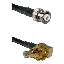 MHV Male on LMR-195-UF UltraFlex to SLB Male Bulkhead Cable Assembly