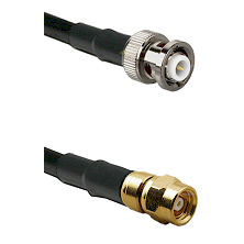 MHV Male on LMR-195-UF UltraFlex to SMC Male Cable Assembly