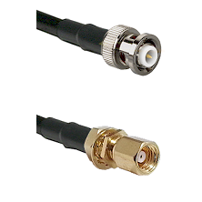 MHV Male on LMR-195-UF UltraFlex to SMC Female Bulkhead Cable Assembly