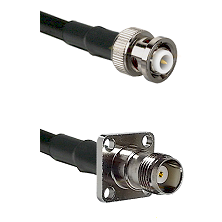 MHV Male on LMR200 UltraFlex to TNC 4 Hole Female Cable Assembly